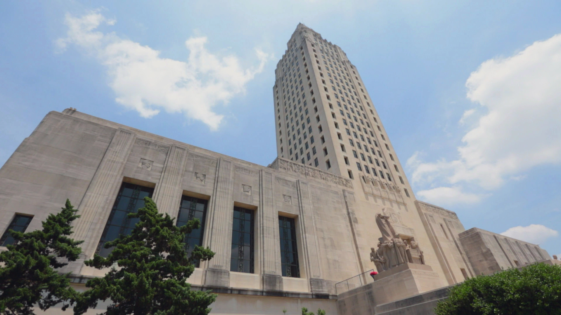 Louisiana state capital time lapse