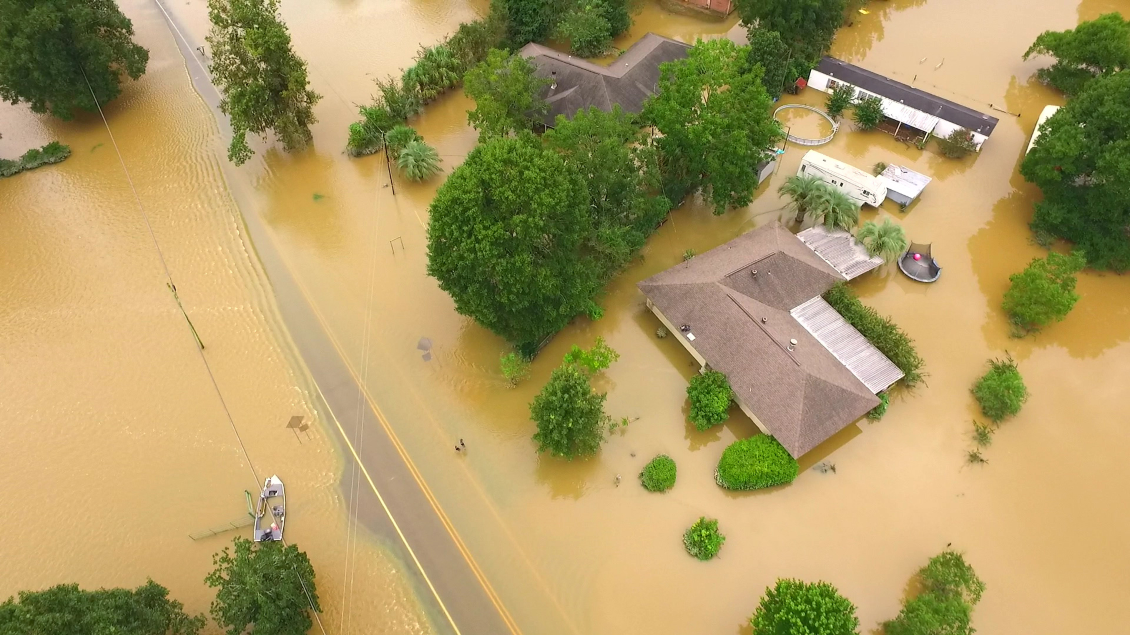 flood aerial footage