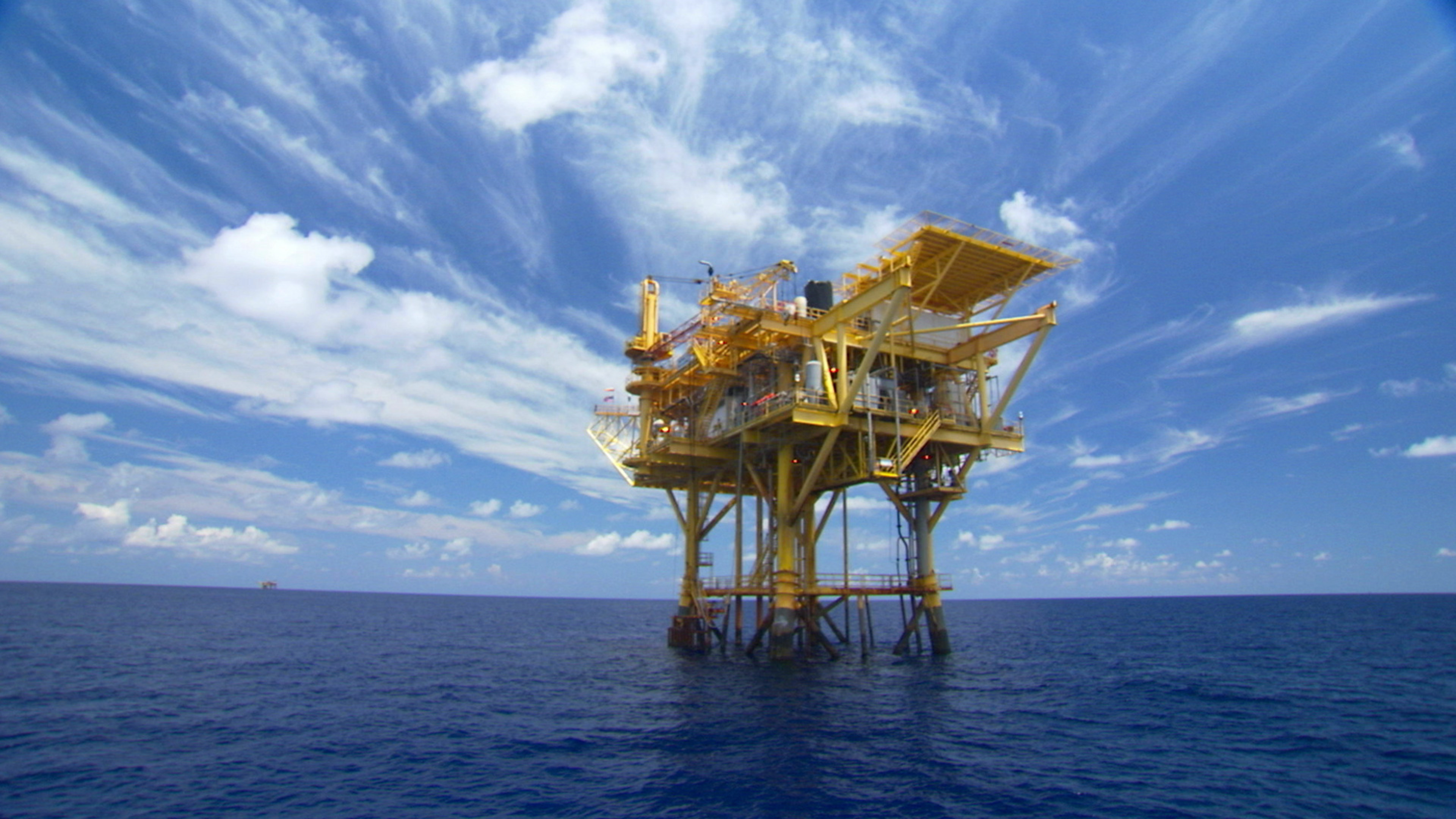 Oil rig gas platforms offshore Gulf of Mexico