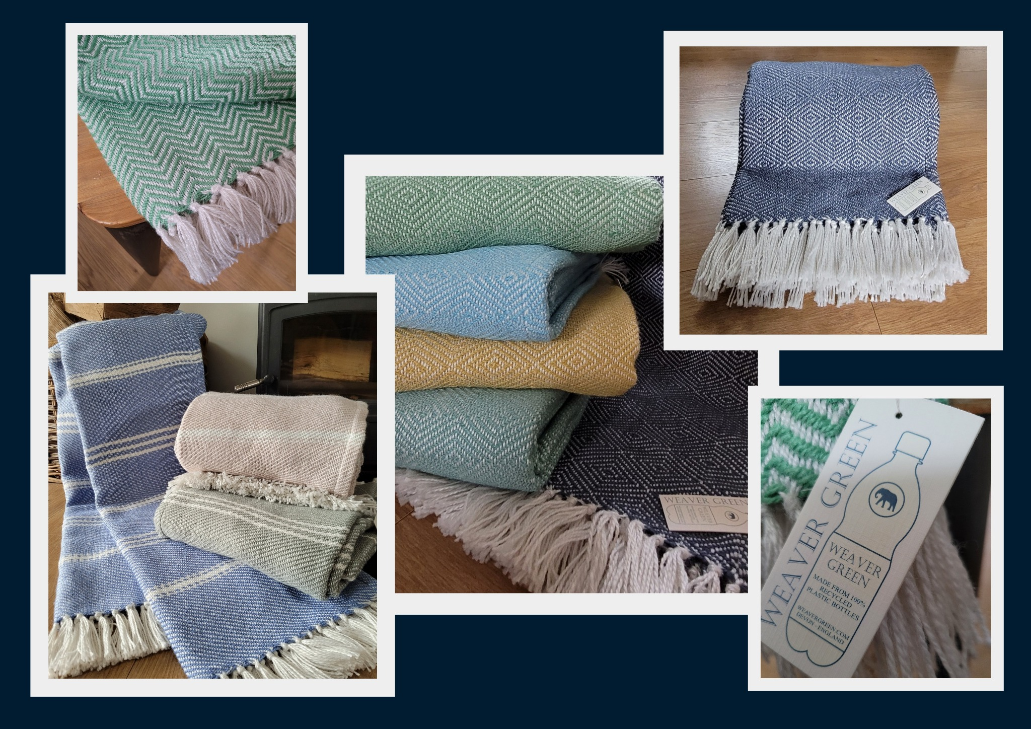 Throws made from 100% recycled plastic bottles.