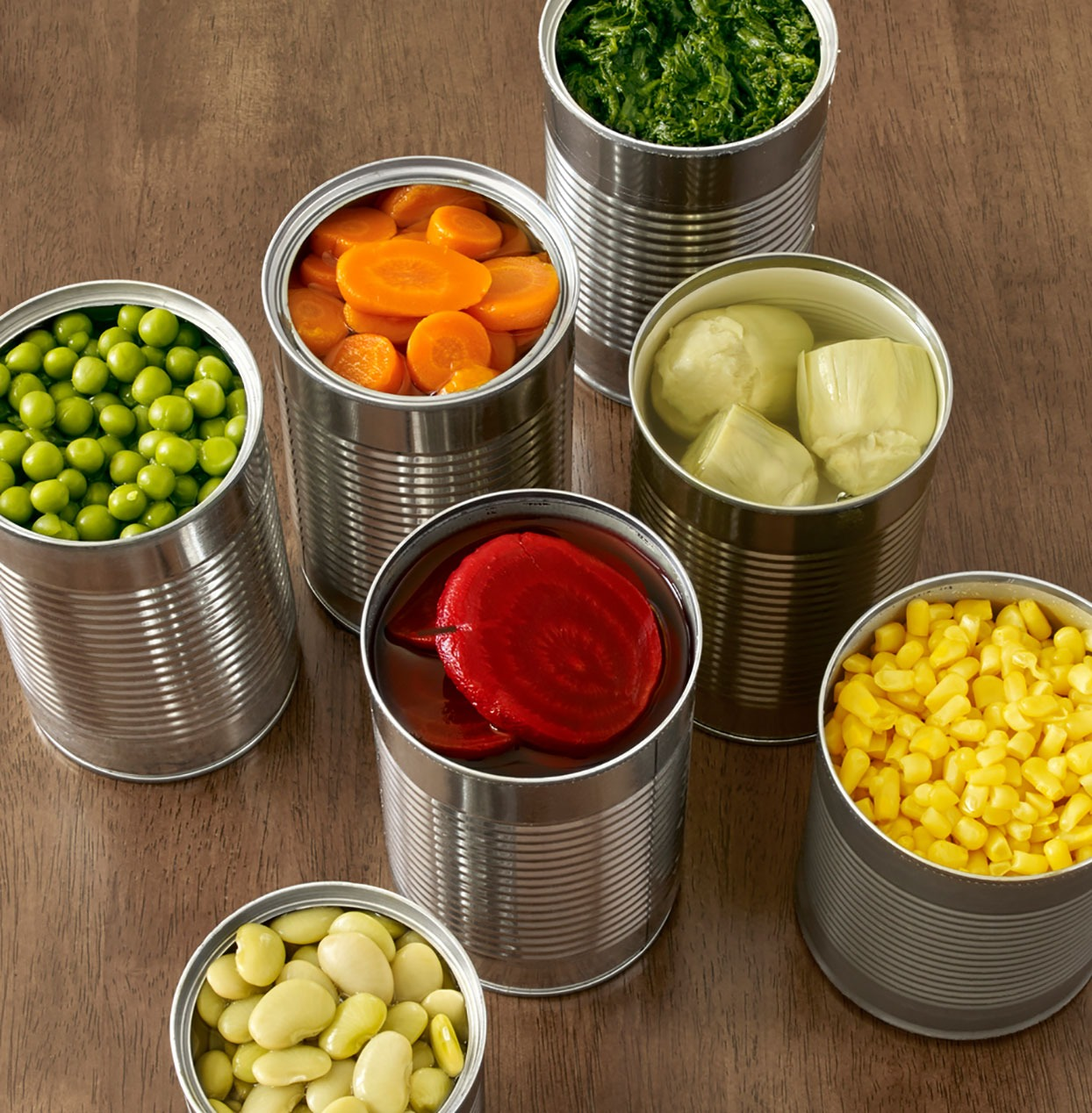 Vegetables Frozen and Canned and Jarred