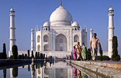 The Taj Mahal and Agra India