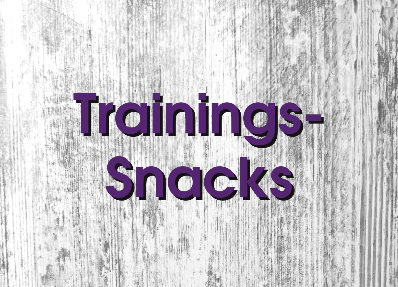 Trainingssnacks