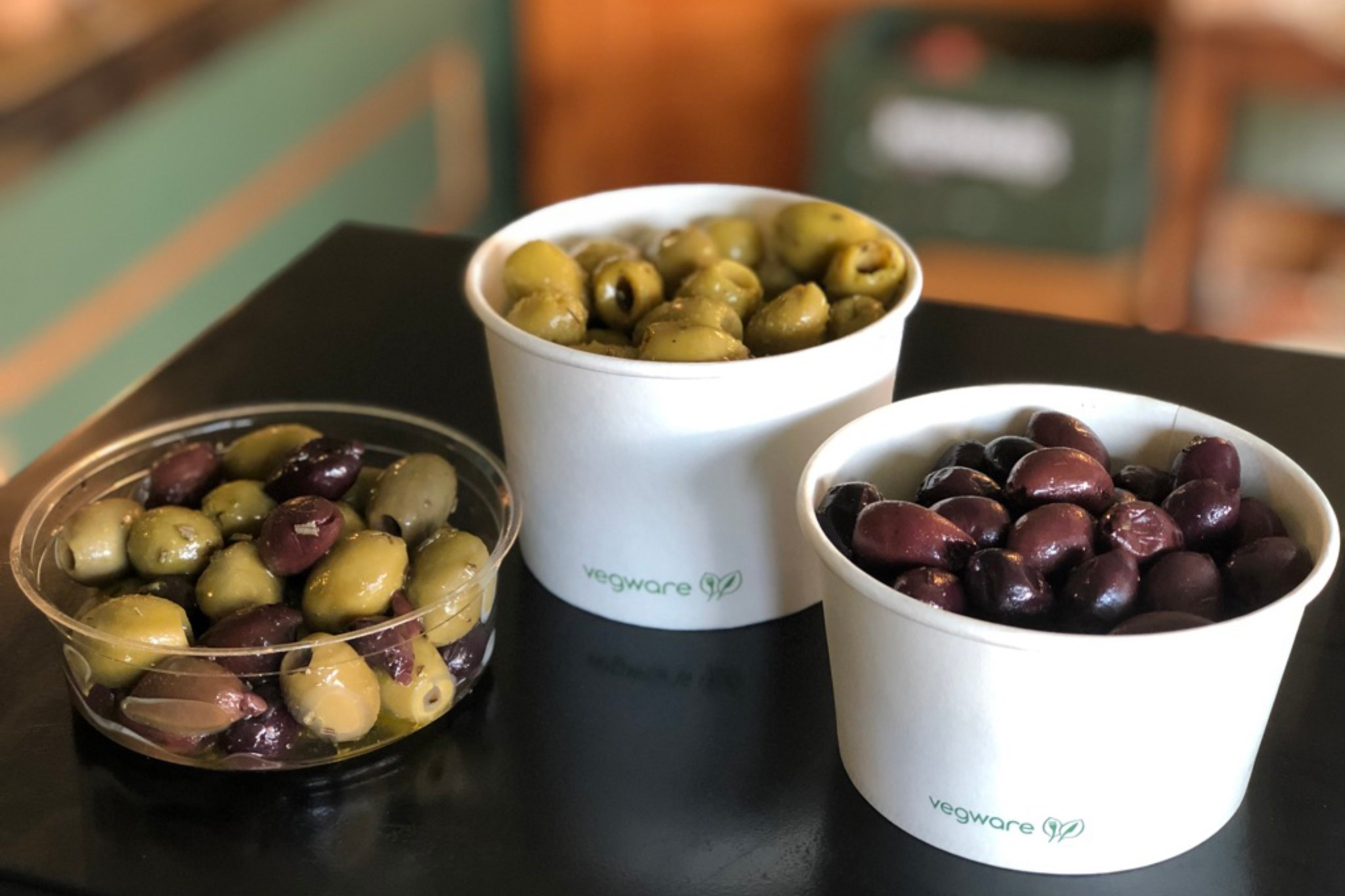 Olives and salads