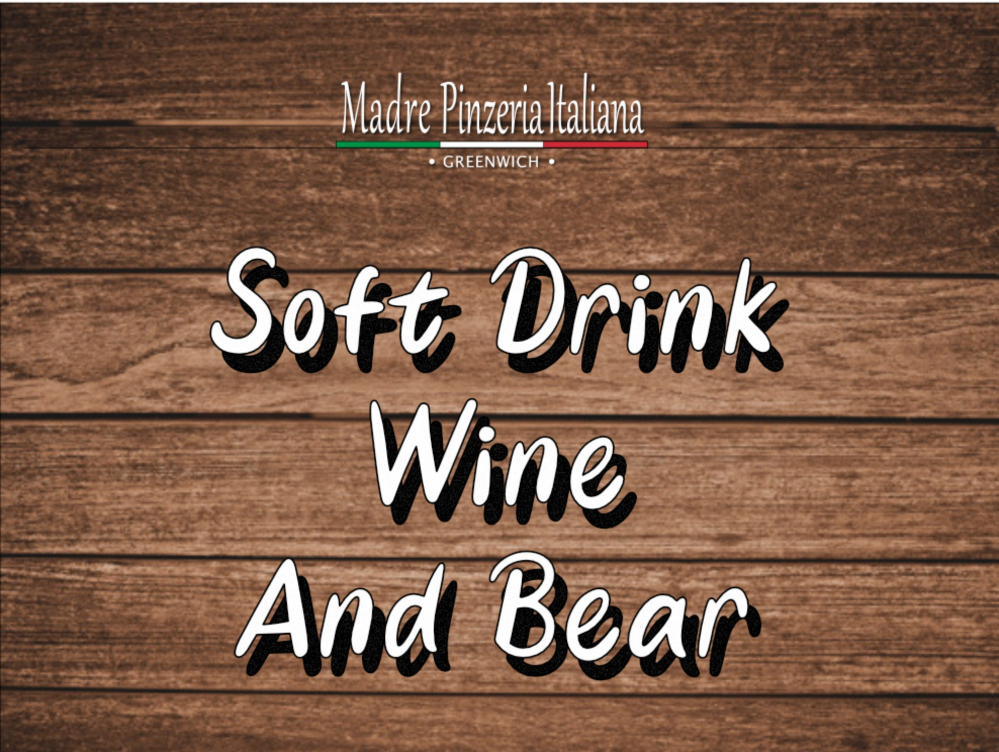 Soft Drink Wine and Bear