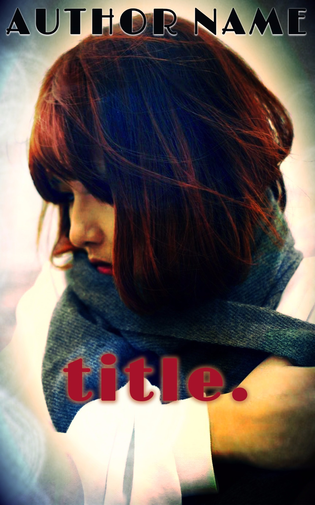 Bundled Up Girl | E-Book Cover Design PSD Template