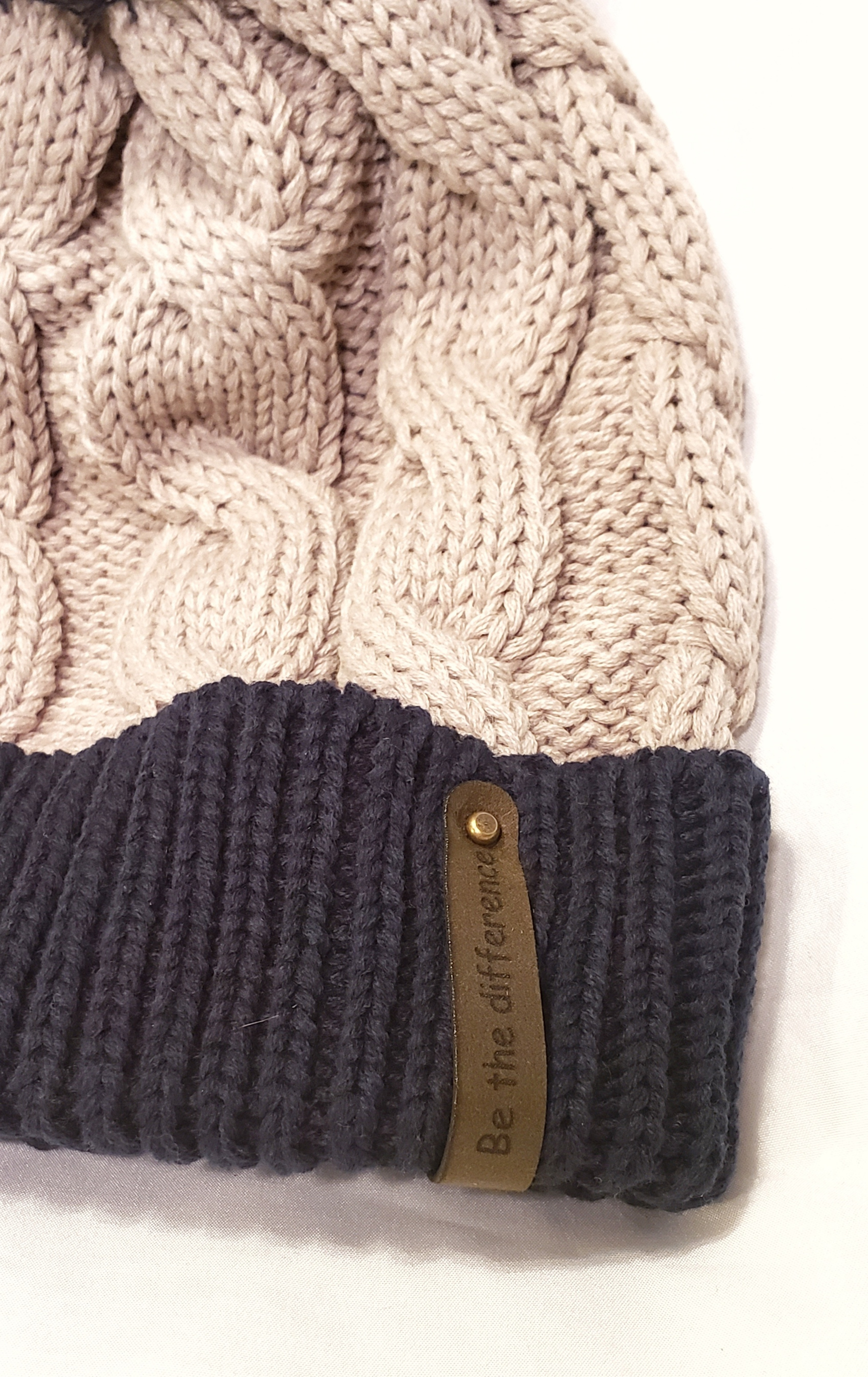 Richardson Beanie Navy and Grey knit
