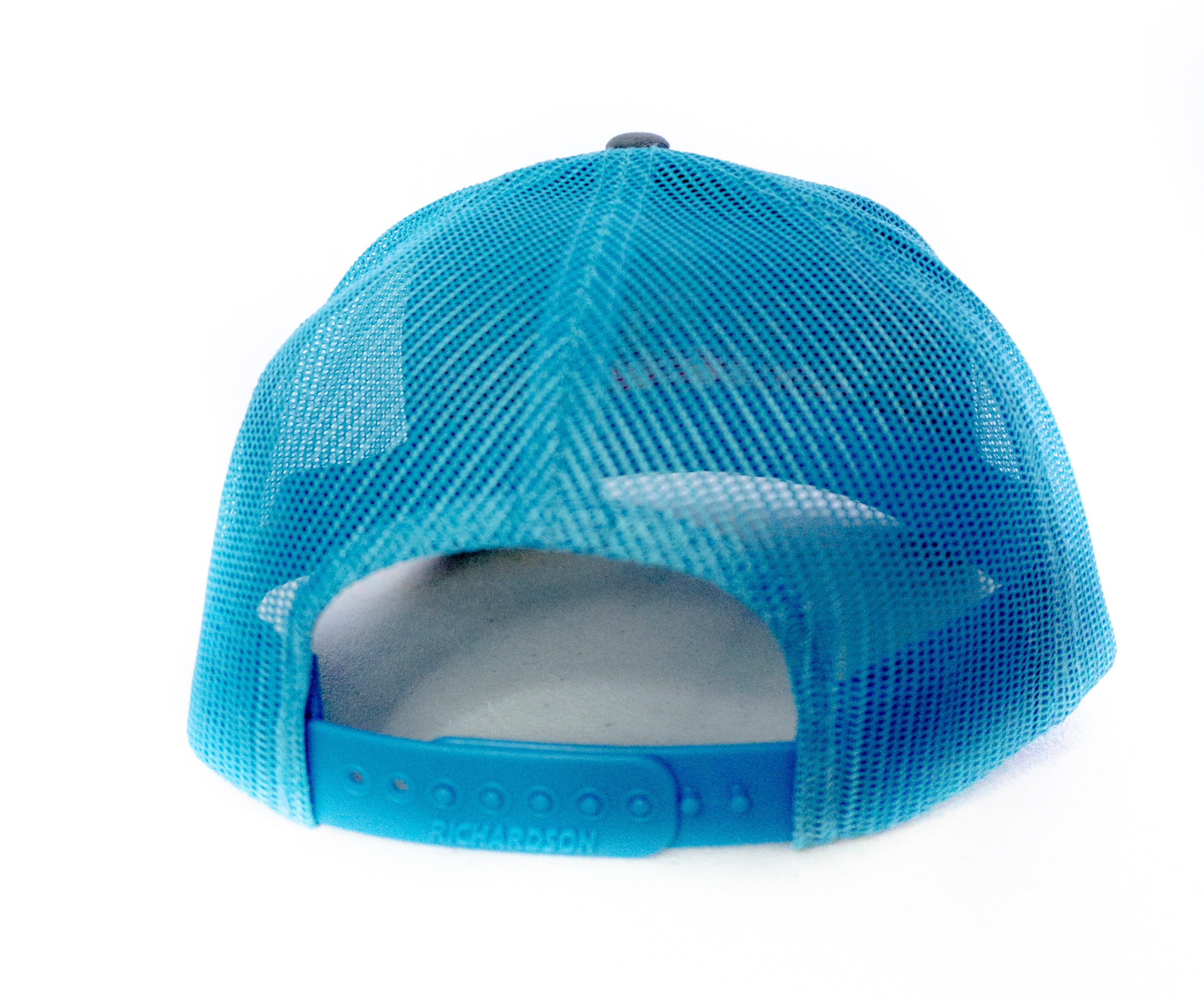 112 Richardson Trucker Cap - Split Charcoal/Neon Blue