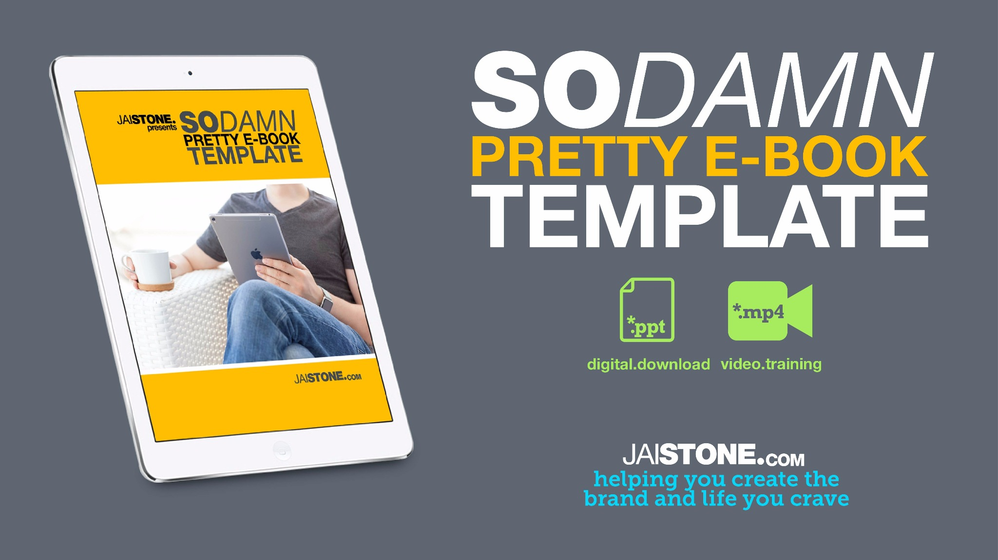 So Damn Pretty eBook Template (designed in POWERPOINT)