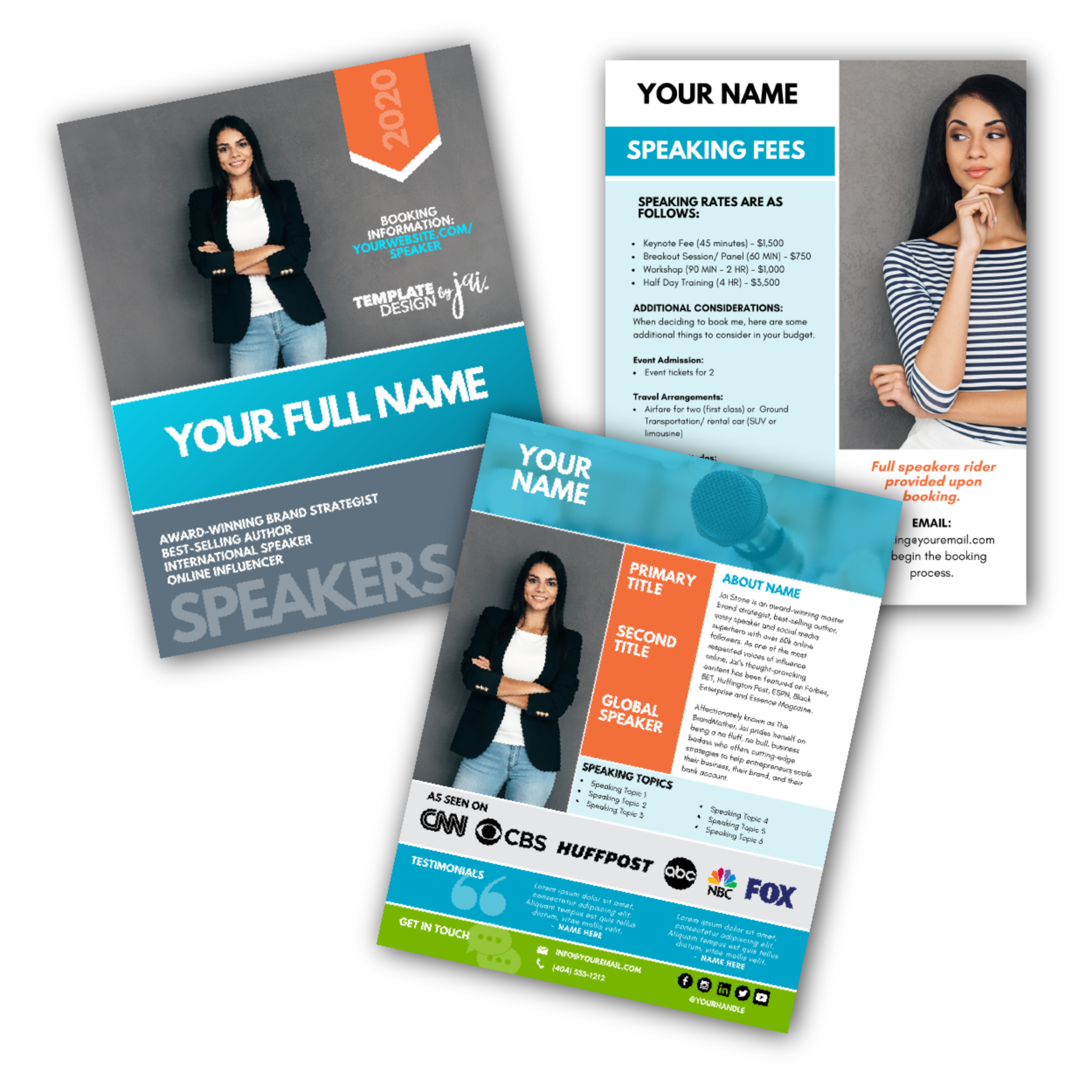 Get Booked Speakers Template Bundle (designed in CANVA)