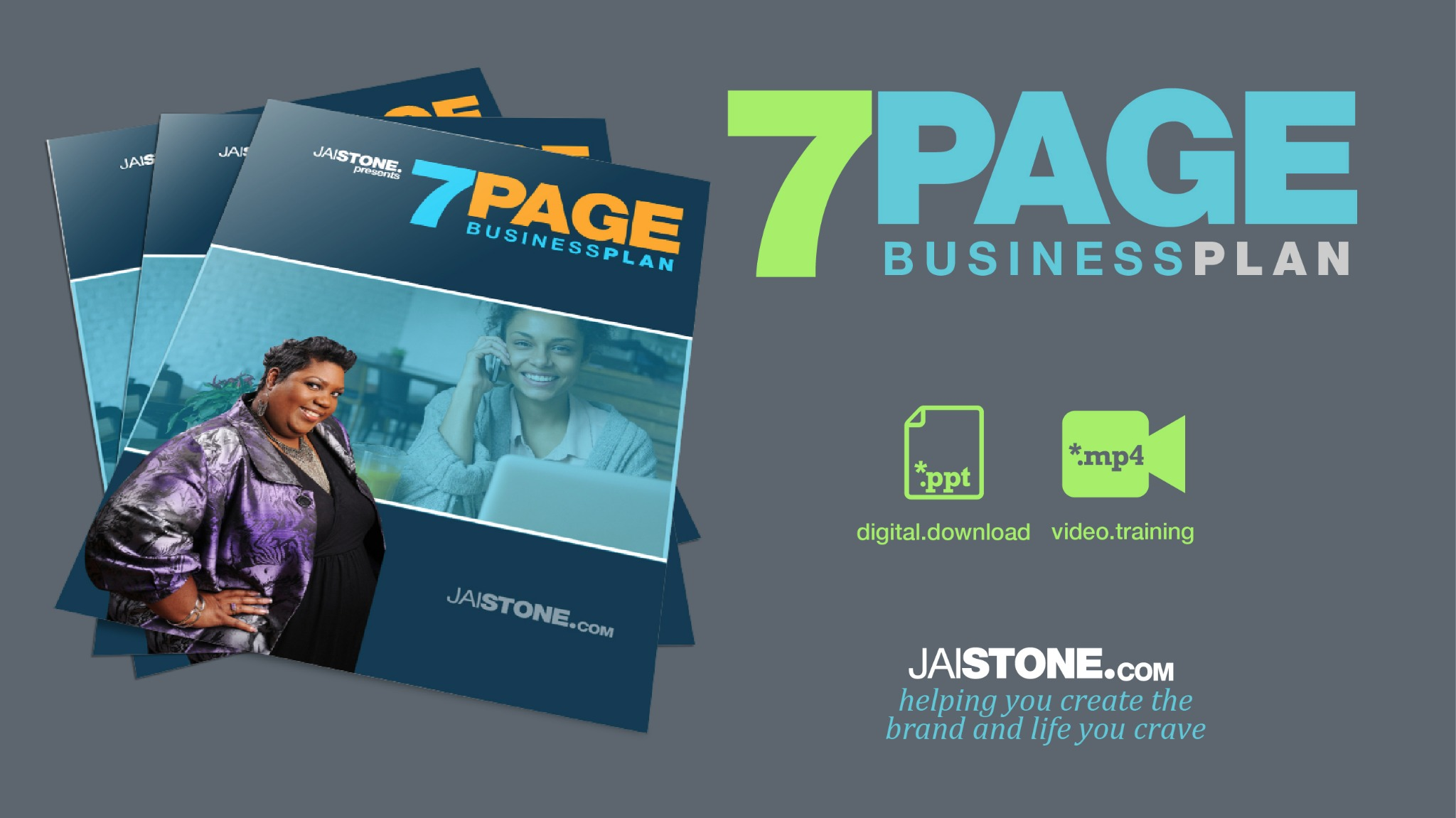 7 Page Business Plan Template + Training Video (designed in POWERPOINT)