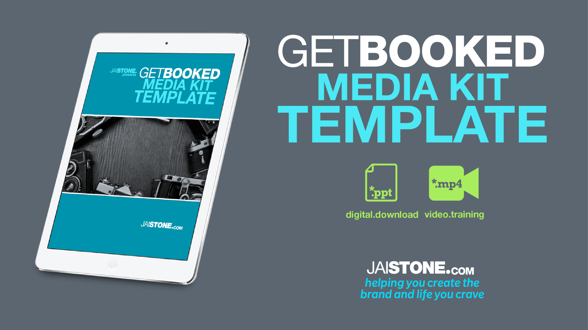 Get Booked Media Kit Template (designed in POWERPOINT)