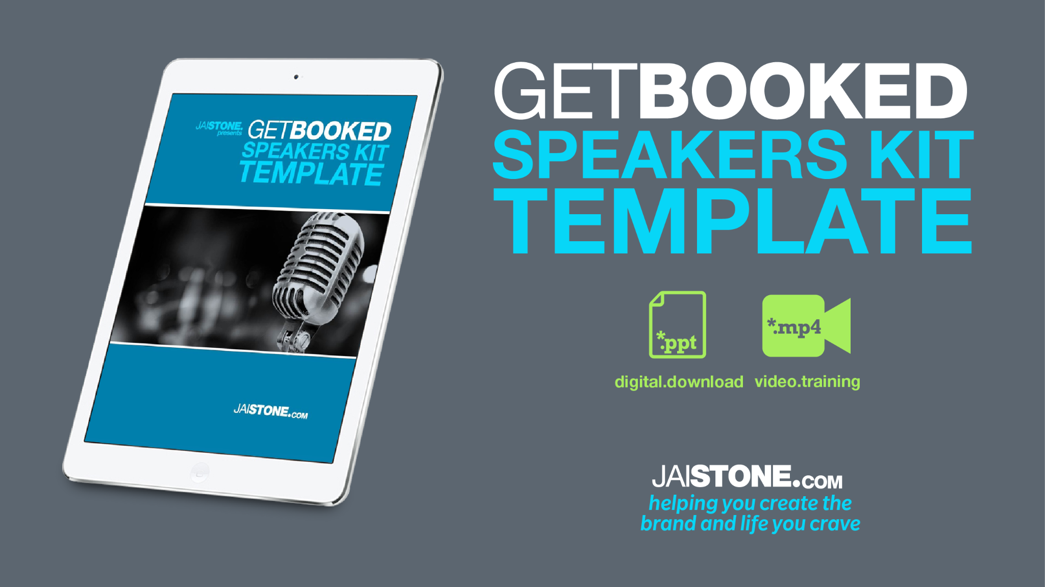 Get Booked Speakers Kit Template (designed in POWERPOINT)