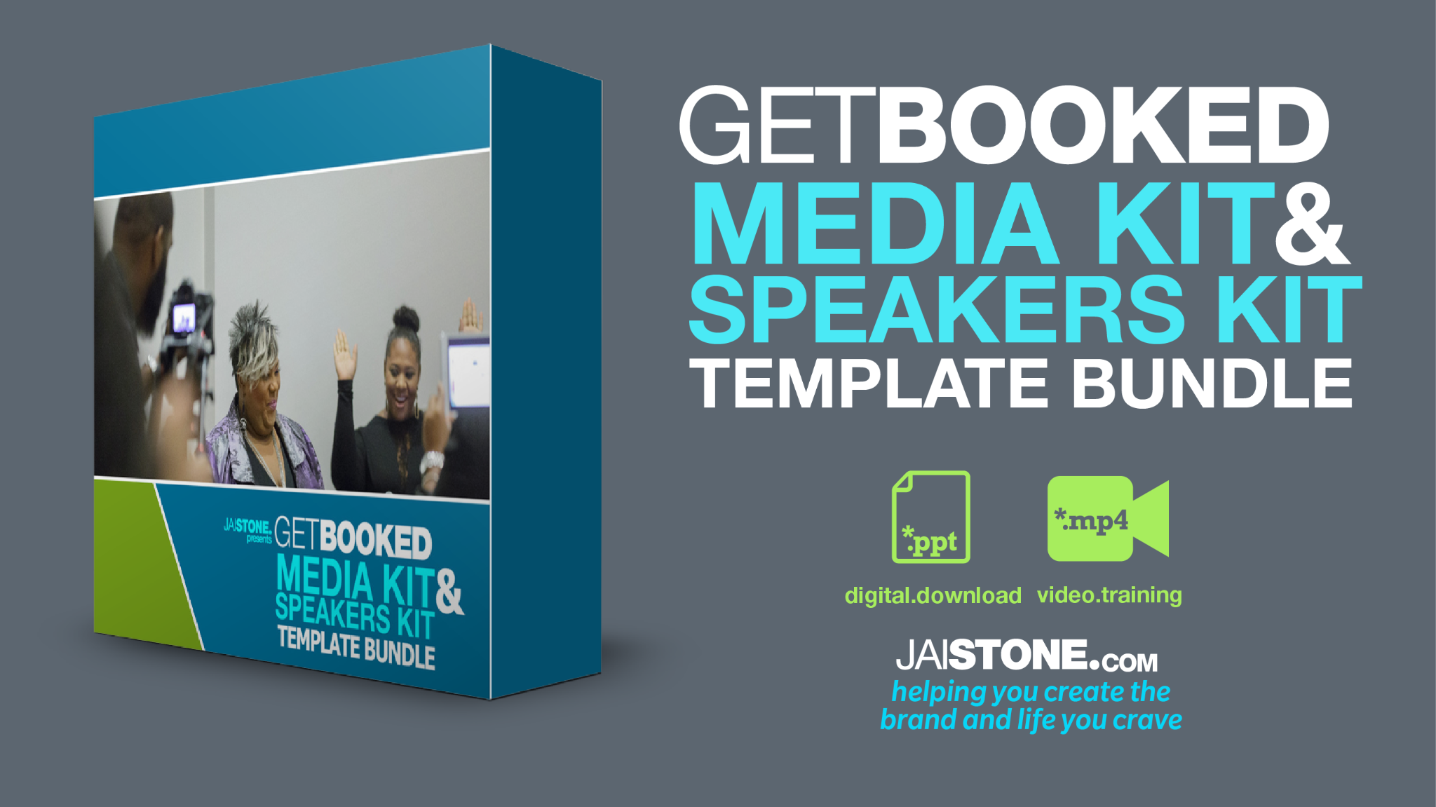 Get Booked Template Bundle (designed in POWERPOINT)