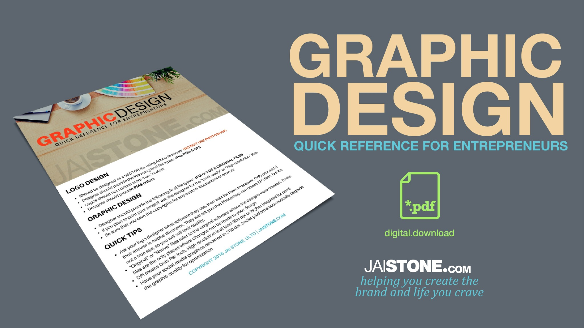 Graphic Designer Quick Reference Guide For Entrepreneurs