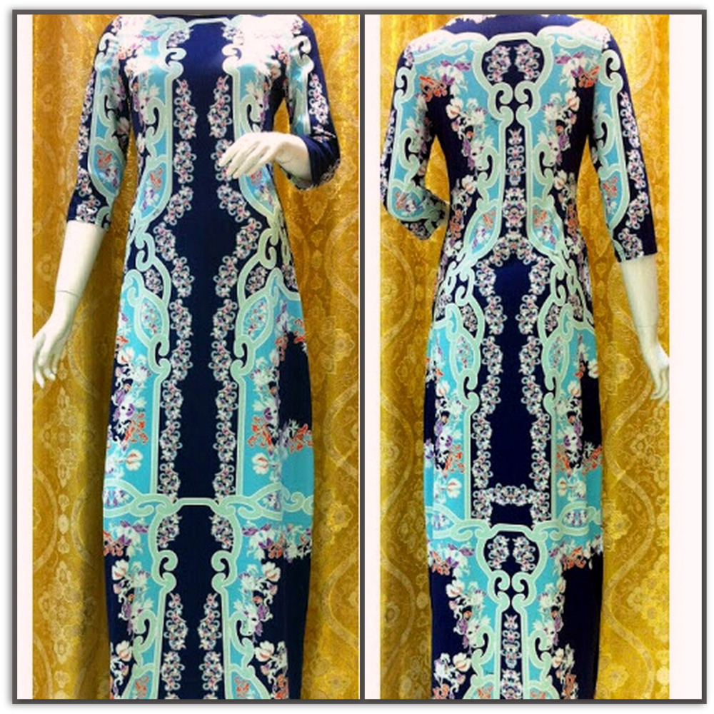 Emilio Pucci Royal Long Silk Maxi Dress