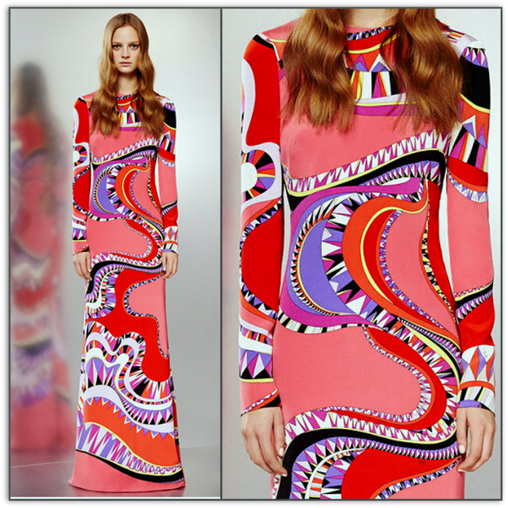 Emilio Pucci Bianca Maria Long Silk Maxi Dress