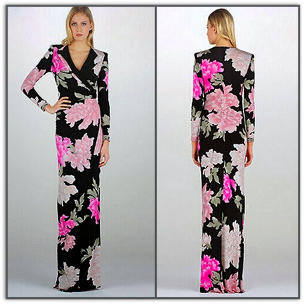 Emilio Pucci Efflorescent Long Silk Maxi Dress