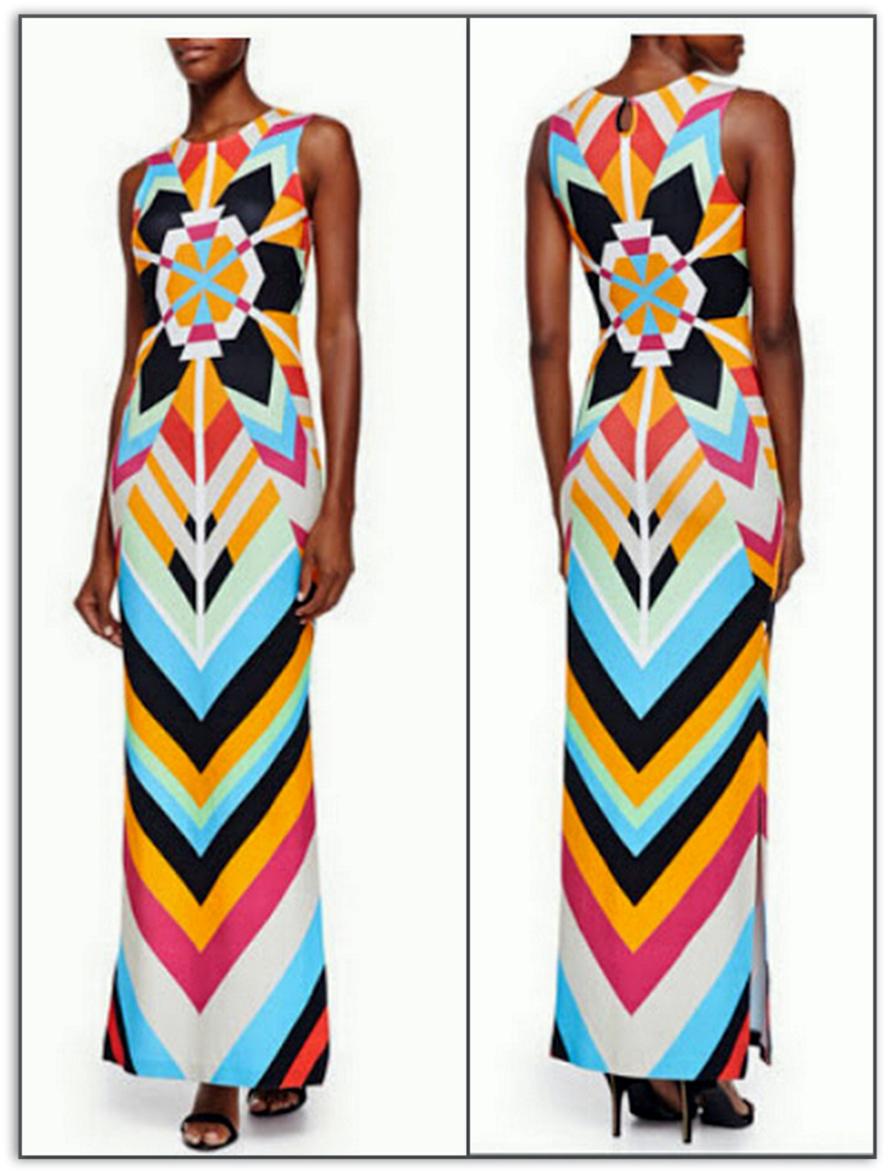 Emilio Pucci Auroral Long Silk Maxi Dress