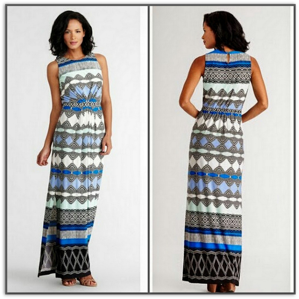 Emilio Pucci Blusey Long Silk Maxi Dress