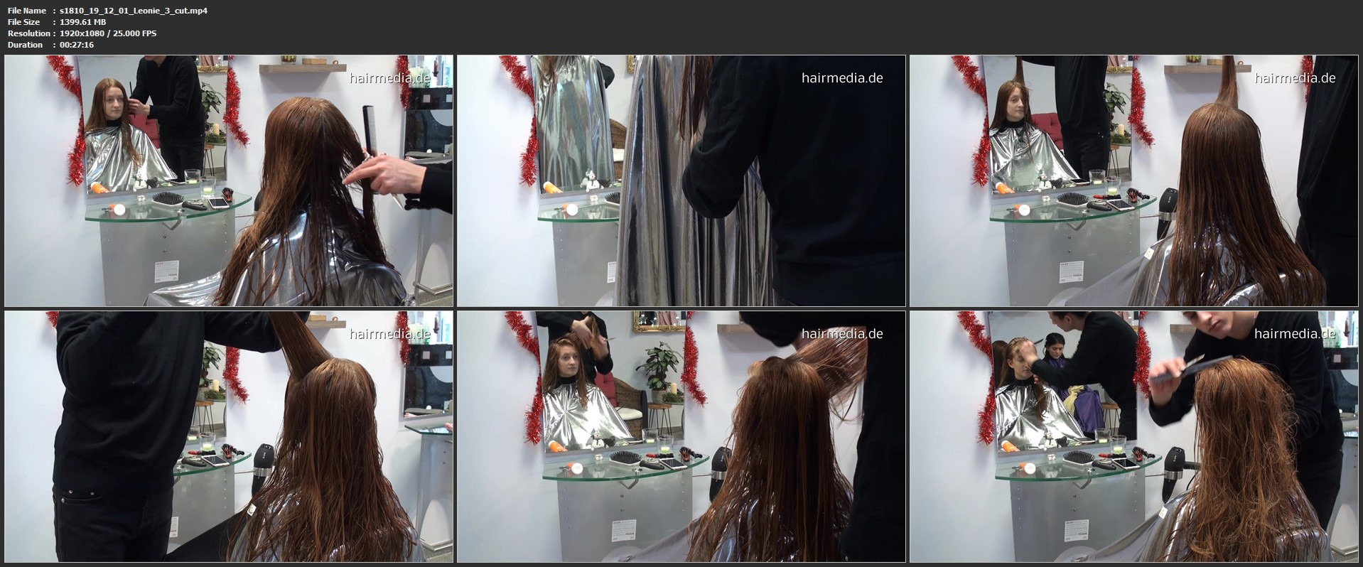 8154 Leonie  haircutting complete 63 min HD video for download