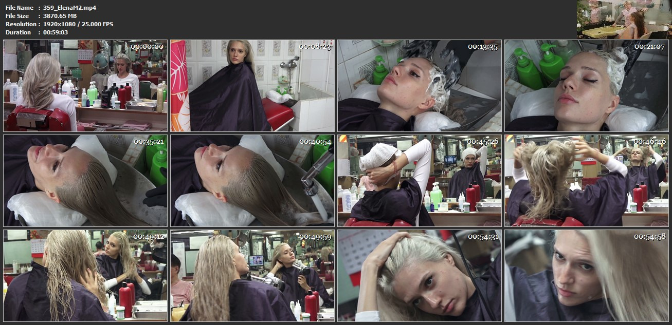 359 ElenaM 2 blonde 2x bwd wash by glove barber 59 min HD video for download