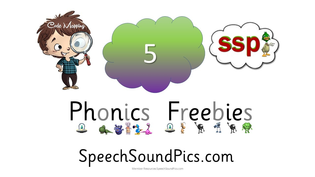 Freebie Phonics - Green / Purple CL - 20 free downloads for non members