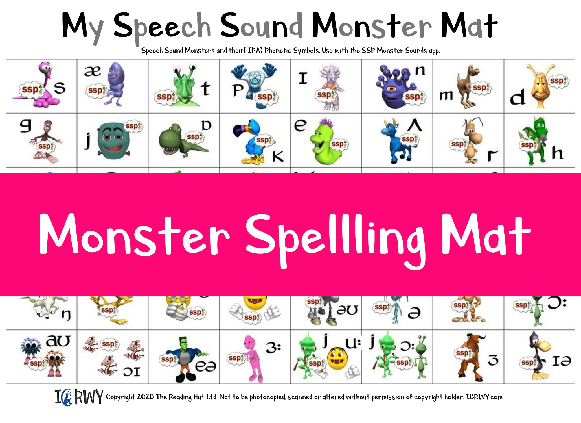 Ready-made Monster Mats - just cut one sheet, and add velcro dots! Pack of 15 - AU Delivery only