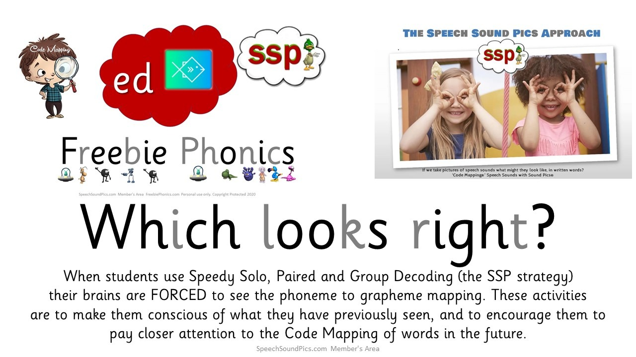 FreebiePhonics.com - Spelling Activity 2 'ed' -  first 20 downloads free to non-members