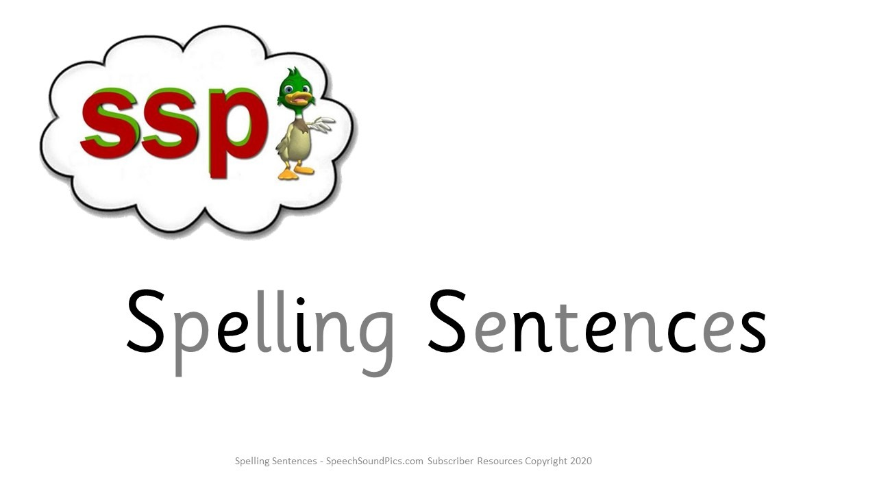 FreebiePhonics - Spelling Sentences 1 - First 20 free downloads to non members