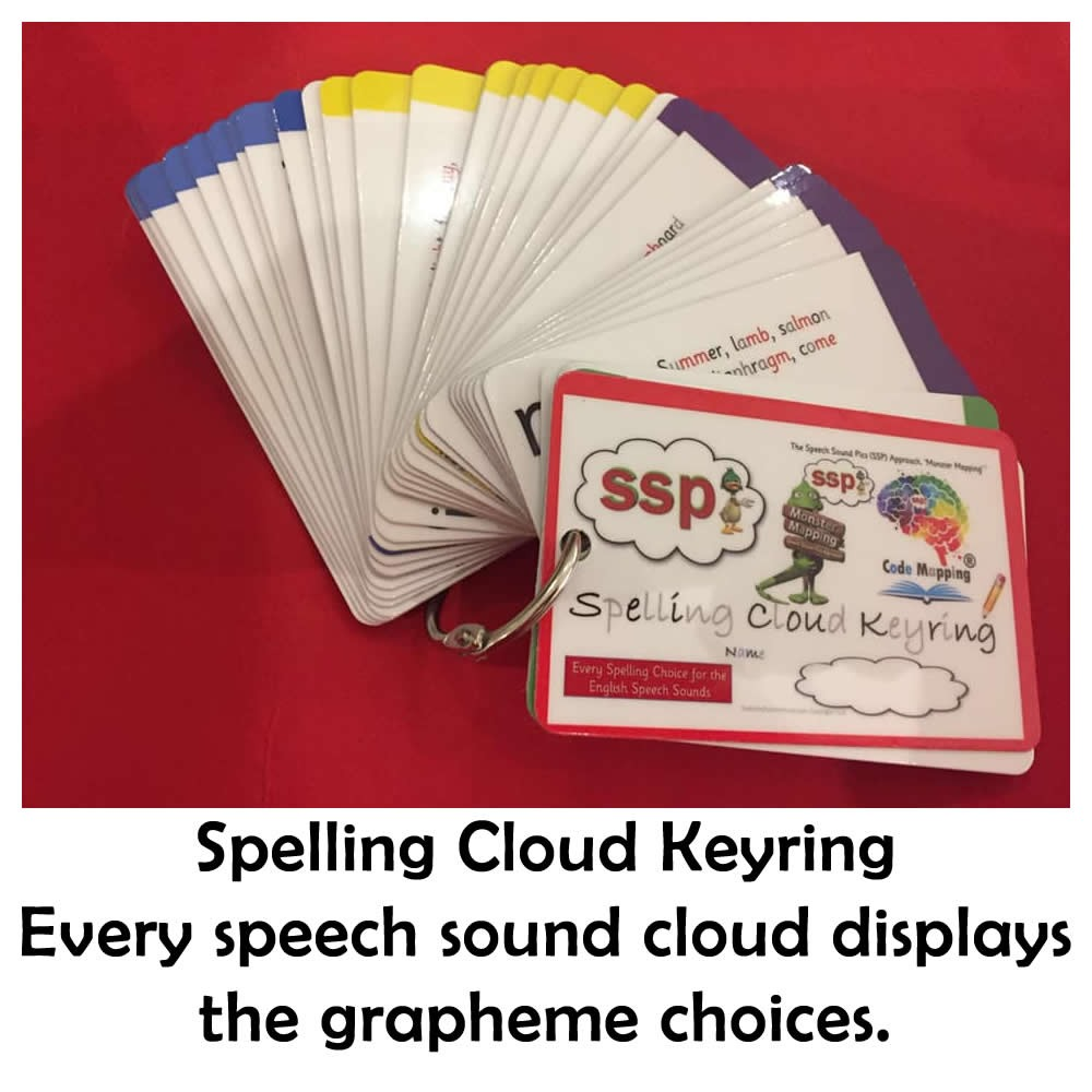 CLOUDS - Spelling Cloud Keyrings, Pack of 50, 25% off ! $16.90 each.