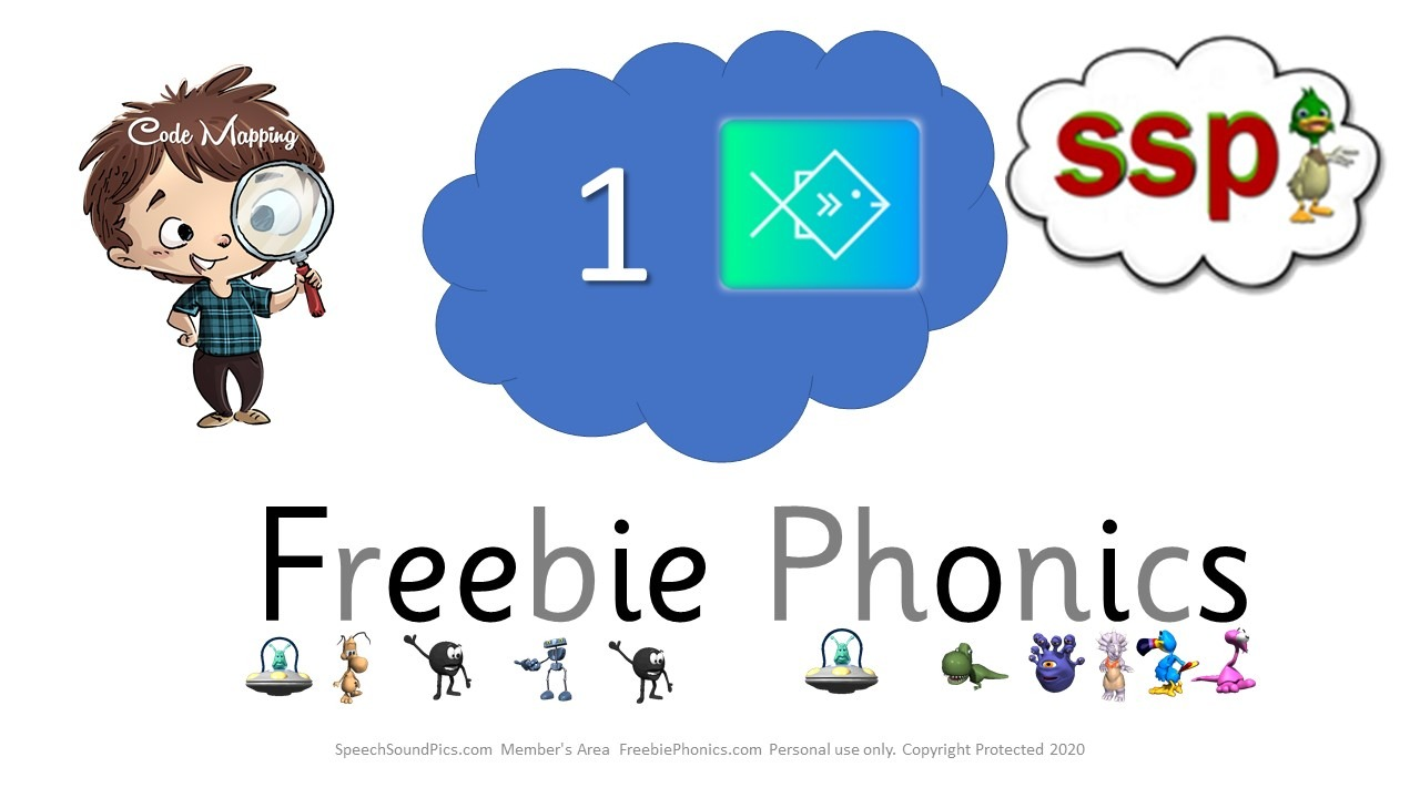 Freebie Phonics - BLUE 1 - First 20 downloads are free (SSP member resource)