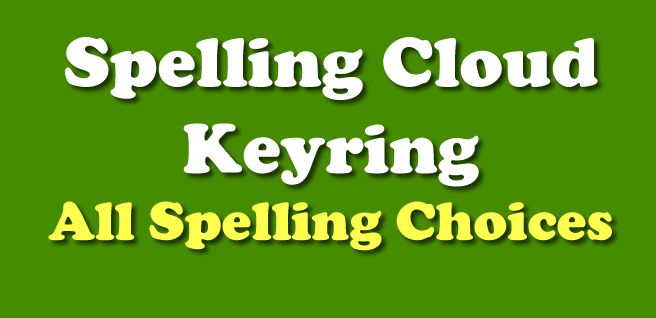 Spelling Cloud Keyring AND Duck Level (HFW) Keyring