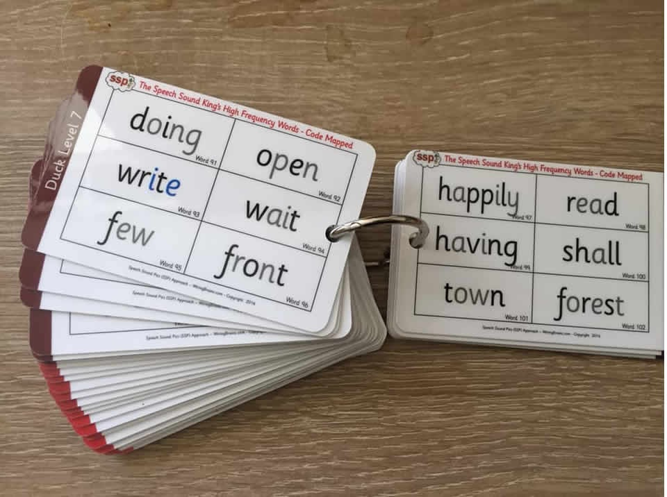 10 x Sight Word Keyrings (7 Duck Levels) 400+ High Frequency Words