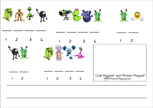 Digital - Monster Mapped Sentences! Write the Sound Pic underneath, and then the whole sentence