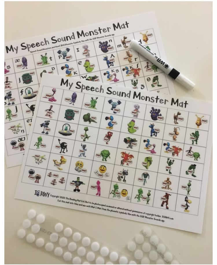 Ready-laminated Monster Mats - cut IPA sheet, and add velcro dots! Pack of 15 - AU Delivery only
