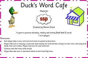 SSP Digital - Duck level 2 Word Cafe Game