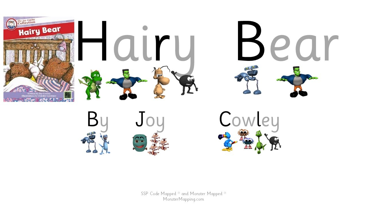 SSP Digital -Hairy Bear by Joy Cowley - Words Code and Monster Mapped