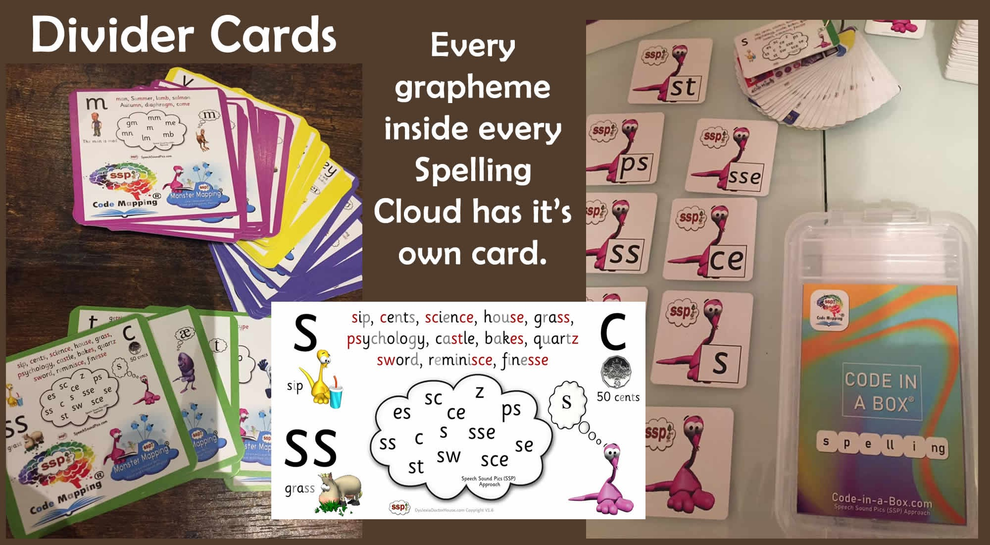 Code in a Box - Spelling - 300+ Spelling Choices, English Speech Sounds !