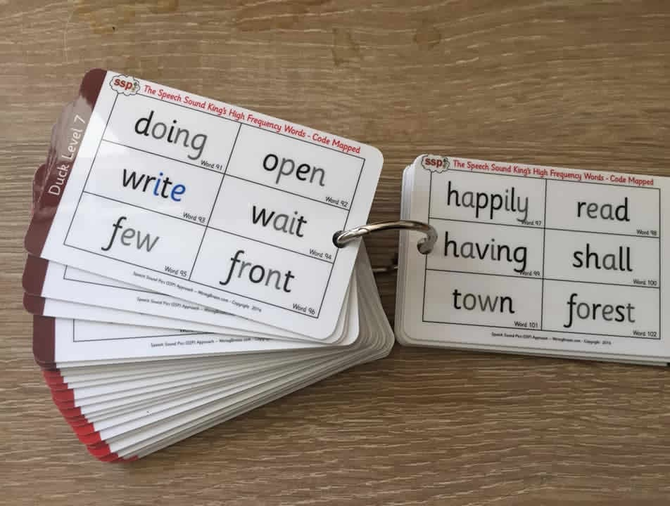 50 x Sight Word Keyrings (7 Duck Levels) 400+ High Frequency Words