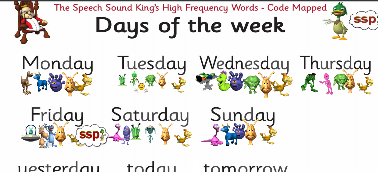 Free for 7 days ! Days of the Week, Months of the Year, Colours, Shapes