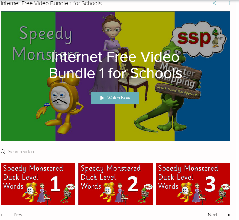 Internet Free VIDEO BUNDLE 1 - SALE! Schools with LESS than 50 students on roll - Videos