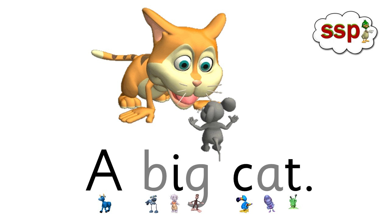 Free Decodable Monster Reader - Cats, Cats, Cats. See video in App.