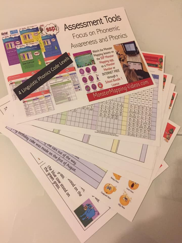 Assessment Tool (Phonics) for Parents and Teachers - Laminated A4 Sheets