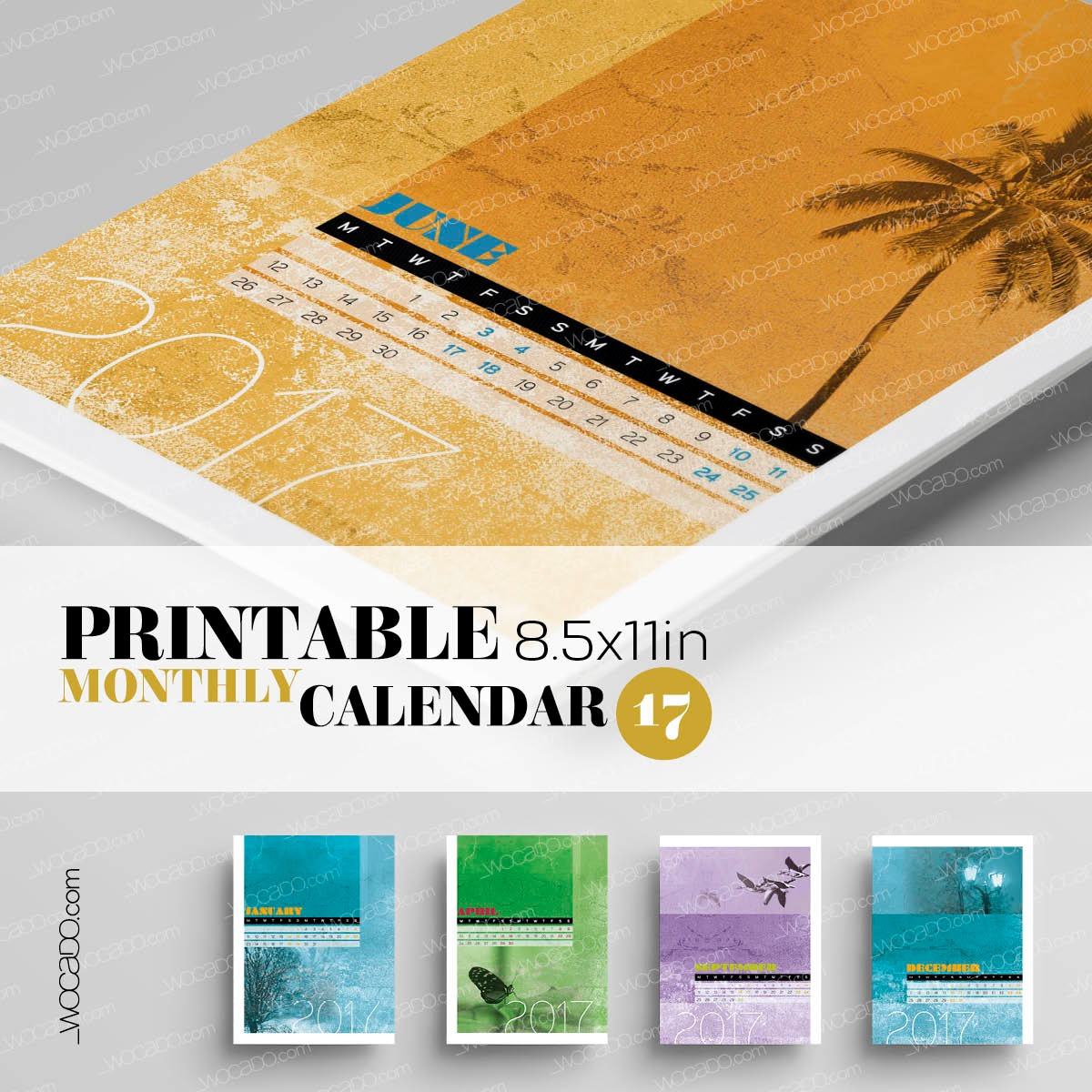 Spot On Nature – Monthly Printable Calendar 2017 - 8,5x11, Photography