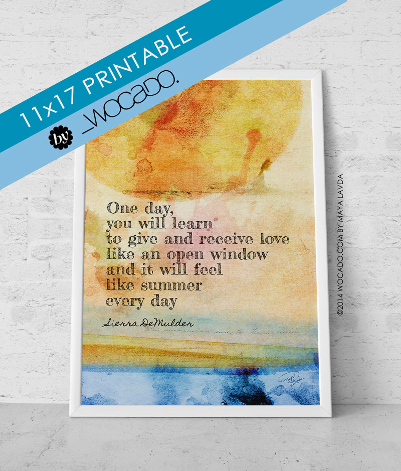One day you will learn - 11x17 Printable Poster by WOCADO