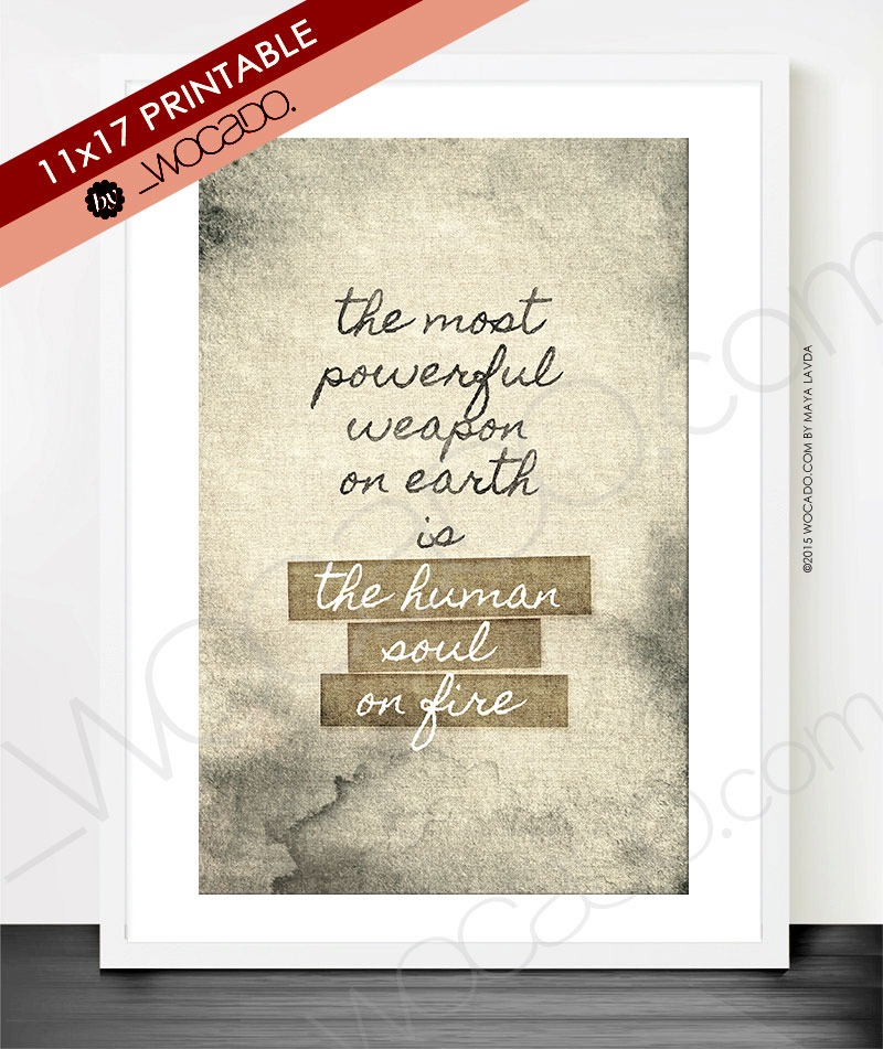 The Human Soul on Fire - 11x17 Printable Poster