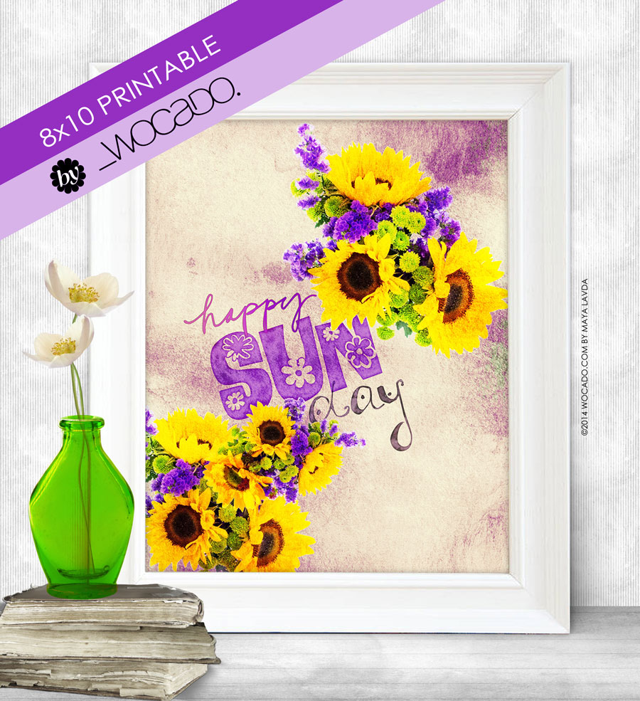 Happy SunDay - 8x10 Printable by WOCADO