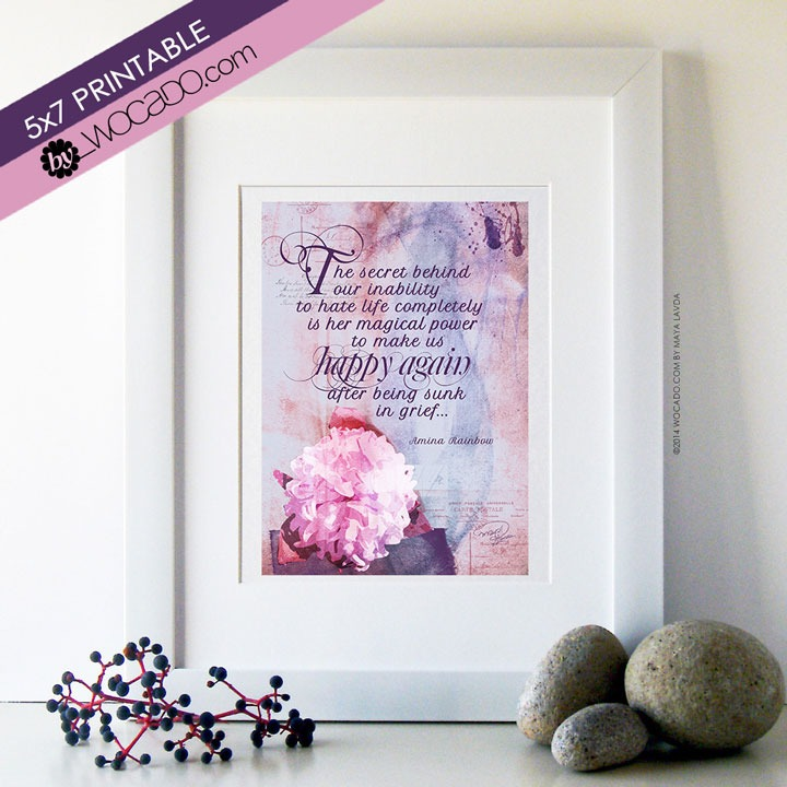 The Magical Power of Life - 5x7 Printable