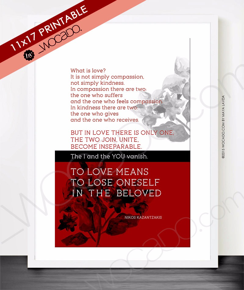 What Is Love - 11x17 Printable Poster
